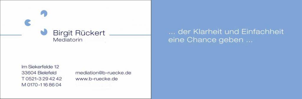 Visitenkarte Mediation Birgit Rückert